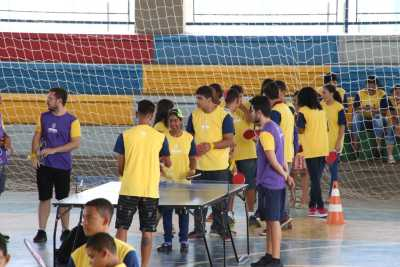 Estudantes participaram das modalidades com orientações de professores e técnicos