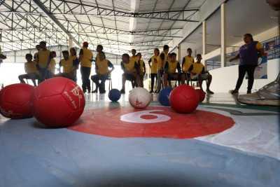Estudantes vivenciaram três esportes no Festival Paralímpico em Palmas, entre eles a bocha