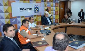 Em coletiva, o governador Mauro Carlesse apresentou um diagnóstico dos incêndios florestais no Estado e as estratégias da força-tarefa para combate os focos