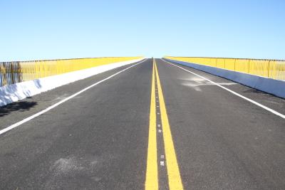 A nova ponte terá 1.488 m de extensão