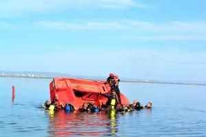 Grupo atuou no Lago de Palmas durante ao parte das práticas em mergulho