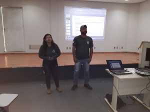 Juntamente com a veterinária Grasiela Pacheco, o zootecnista Daniel Albernaz apresentou as principais atividades do Cefau