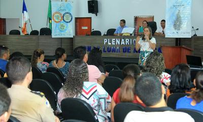 Elmiriam Guedes, Gerente de Capacitação da Egefaz agradece a receptividade da gestão municipal e da Diretoria Regional de Ensino.