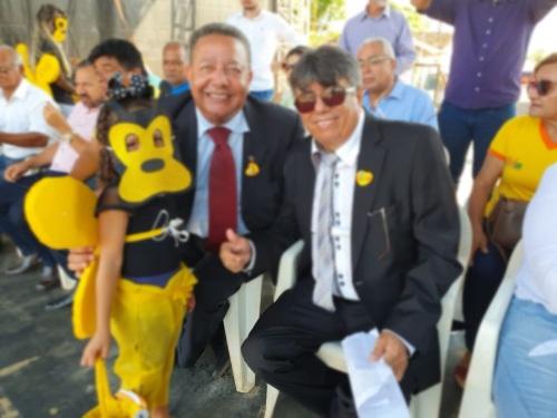 Tom Lyra e o prefeito Manoel Silvino