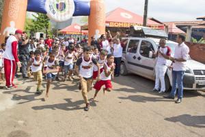 Corridinha do Fogo atraiu  centenas de crianças para as disputas