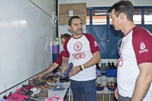 O vice-governador Wanderley Barbosa e o coronel Reginaldo Leandro visitando os pontos de atendimento dos evento