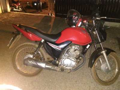 Moto recuperada logo após a ação dos infratores em Gurupi