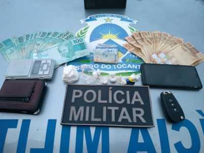Material apreendido com suposto traficante em Palmas.