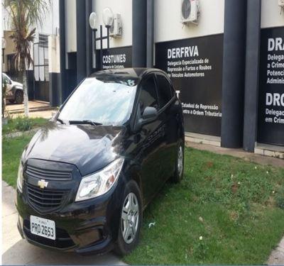 Chevrolet ônix, apreendido pela Polícia Civil em Palma