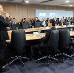 Cristiano Sampaio fez uma apresentação durante o Fórum mostrando dados preocupantes com relação aos investimentos feitos na Segurança Pública nos últimos anos