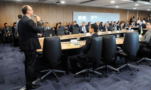 O secretário da Segurança Pública do Tocantins, Cristiano Sampaio, participou nesta terça-feira, 8, em Brasília (DF), do VII Fórum Nacional de Governadores
