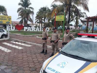 Efetivo policial durante operação em Paraíso
