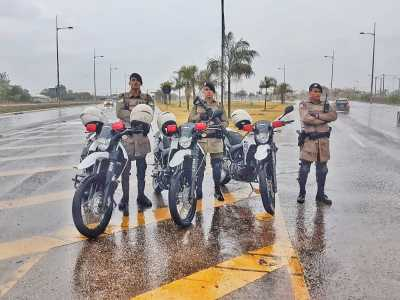 Militares em Palmas durante policiamento