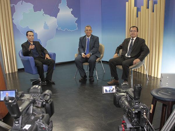 TV: Gravação do Programa Futuro Hoje da TVE Tocantins, com apresentação de Rogério França