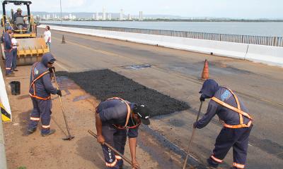 A limpeza da estrutura da ponte vai melhorar no quesito segurança -