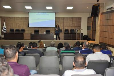 Leda Portela ministrou palestra sobre a regulação do saneamento básico