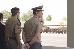 Coronel Leandro na cerimônia dos 24 anos do Batalhão de Infantaria