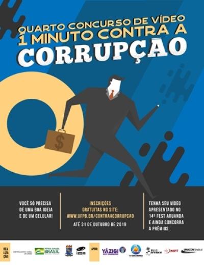 Concurso de Vídeo 1 Minuto Contra a Corrupção