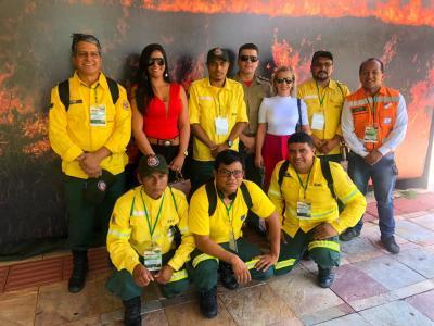 Representantes da Semarh, Defesa Civil, Corpo de Bombeiros Militar e Prevfogo participam de oficina na 7° Conferência Internacional sobre Incêndios Florestais/ Wildfire Brasil 2019