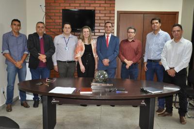 Presidente da ATR, Juliana Matos, acompanhada dos Membros do Conselho