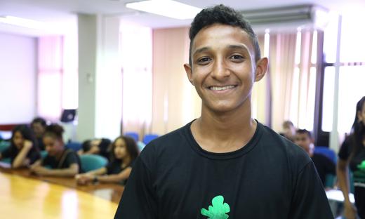 """Estudante Isaías Jardim da Silva Júnior, """"Essa viagem nos trouxe conhecimentos culturais, históricos e geográficos. Vamos voltar para a escola mais animados e com novas ideias"""""""