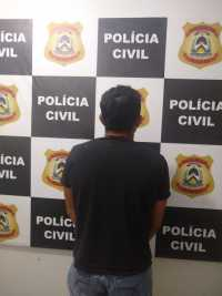 Suspeito foi preso mediante mandado de prisão preventiva