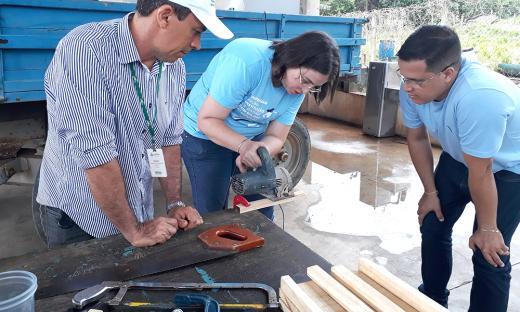 Oficina é ministrada pelo técnico do Instituto de Desenvolvimento Rural do Tocantins (Ruraltins), Wandro Cruz