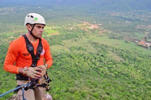 Capitão Lopes, coordenador do curso de salvamento em altura