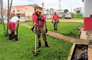 Entre as ações, roça também foi executada pelos bombeiros