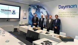 Governador e secretários em reunião com representantes da empresa Águas de Portugal, responsável pelo serviço de saneamento naquele país