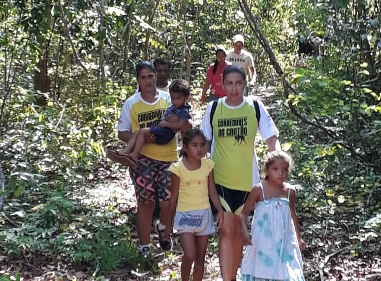 Caminhada Ecológica incentiva atividade física para crianças e gestantes nas trilhas do Parque do Cantão