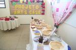 Artesanatos expostos na II Mostra Cultural da Escola Estadual Mundo Sócio do Saber