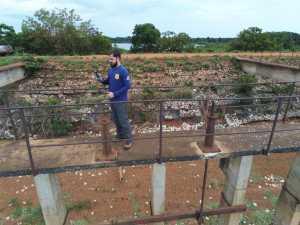 Equipe técnica inspeciona as barragens no município de Formoso do Araguaia