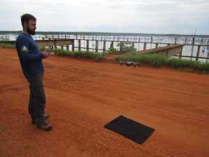 O drone auxilia a equipe técnica no detalhamento das estruturas