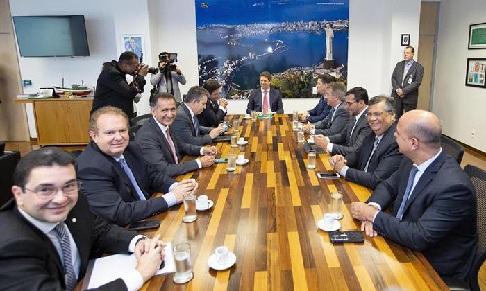 Governador Mauro Carlesse participa de reunião com Ministro do Meio Ambiente e governadores da Amazônia Legal em Brasília