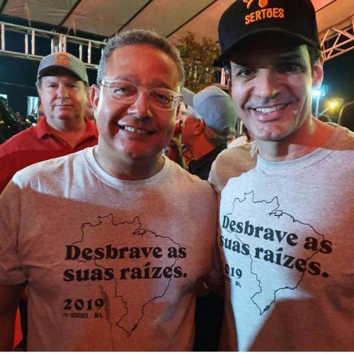 Presidente da Adetuc, Tom Lyra e o ministro do turismo Marcelo Álvaro Antônio durante o Rally  Sertões no Jalapão