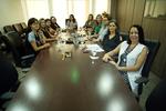 Equipe da Junta Médica em reunião no Espaço Saúde no TJ-TO