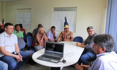 Comitiva liderada pelo prefeito de Tocantínia, Manoel Silvino, esteve na sede da Ageto nesta terça-feira