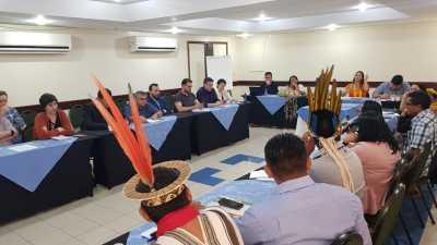 Lideranças indígenas se reúnem com secretários de Meio Ambiente e delegados do GCF