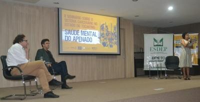 A programação contou com duas palestras sobre saúde mental