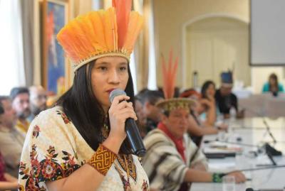 A indígena Narubia Silva Werreria da etnia Iny (Karajá) representou o Tocantins no 19° Fórum de Governadores