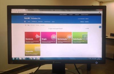 Nova plataforma tem interface mais amigável e traz melhorias no   tratamento das manifestações e acesso dos usuários