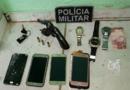 Arma, munições, celulares, relógios e outros