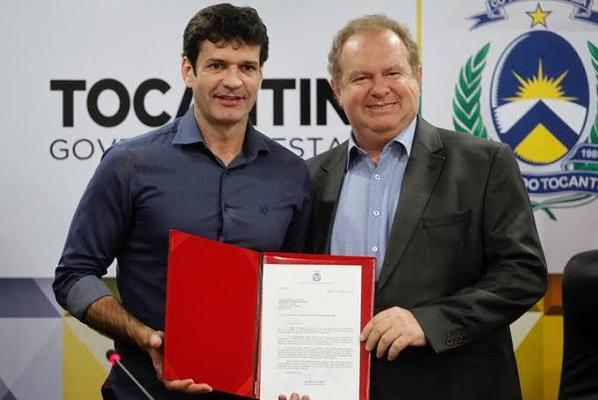 Governador Mauro Carlesse e o Ministro do Turismo Marcelo Álvaro Antônio