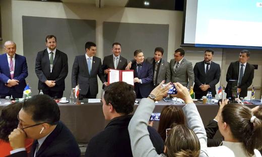 Durante o evento foi assinado o Memorando de Entendimento de apoio com o governo Francês e o Consórcio