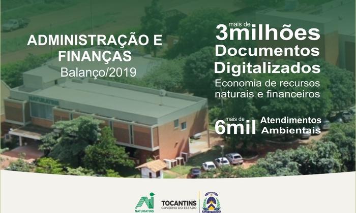 Naturatins digitaliza mais de 3 milhões de documentos e implanta processos ambientais totalmente digitais em 2019