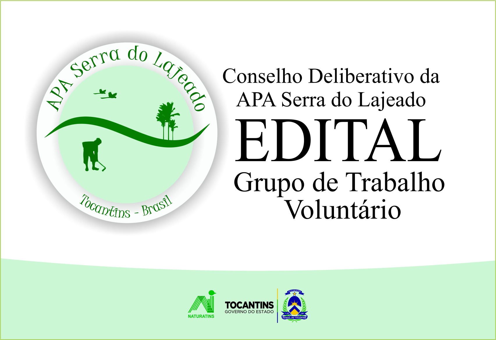 O edital do Conselho da APA Serra do Lajeado convida voluntários para compor Grupo de Trabalho que vai discutir pontos específicos do Plano de Manejo da unidade