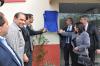 Autoridades descerram a placa de inauguração do Centro Integrado de Saúde