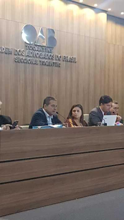 Prof. Alan BITAR apresentou o Fórum à Ordem dos Advogados do Brasil - OAB-TO e parabenizou à Instituição por fazer parte do Fórum Estadual de Educação - FFE/TO.