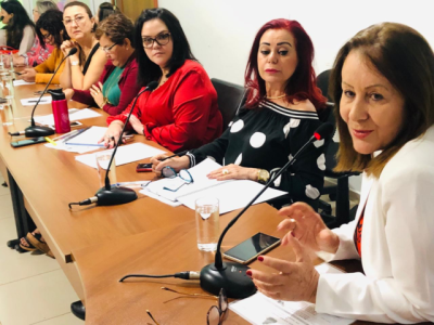 A prefeita de Guaraí Lires Ferneda, destacou a importância da participação dos municípios na elaboração de políticas públicas educacionais.